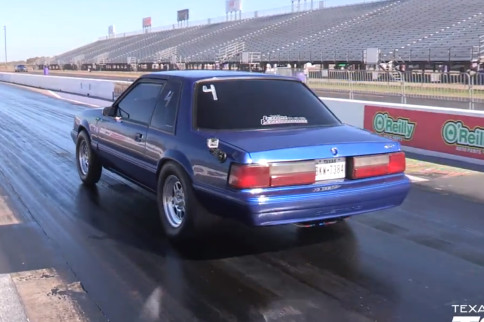 Video: A Manual, Turbocharged, LS-powered Fox Takes To The Strip