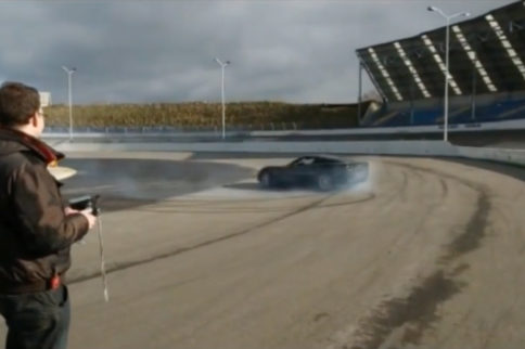 Video: Full Size, Remote Control Corvette Does Donuts On The Track