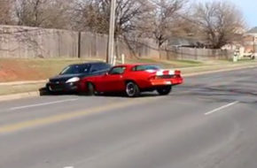 Cars and Coffee - Camaro Owner Gets A Little Too Crazy