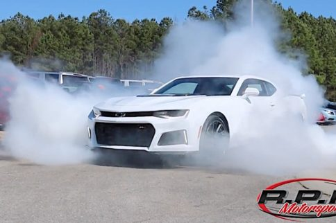 Brand New 10-Speed ZL1 Rips Burnout In Dealership Parking Lot