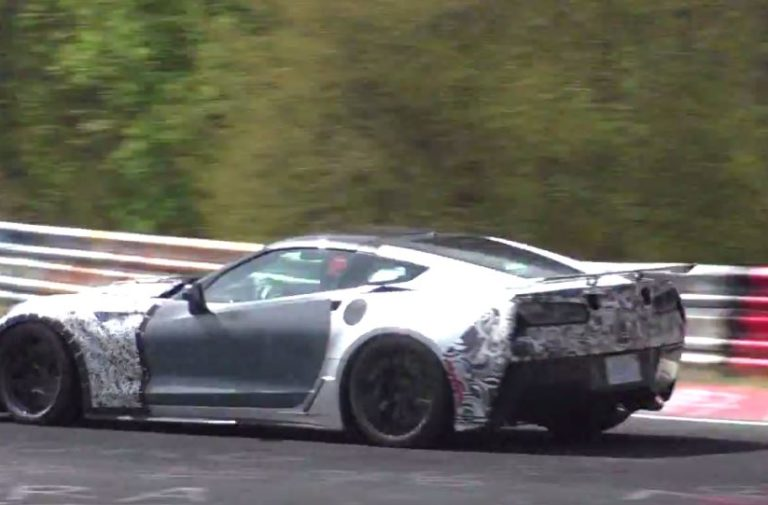 Video: C7 ZR1 With Little Baby Wing Rips Up The 'Ring