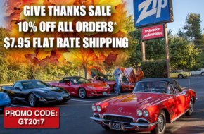 """Gobble Up The Savings With Zip Corvette's """"Give Thanks Sale"""""""