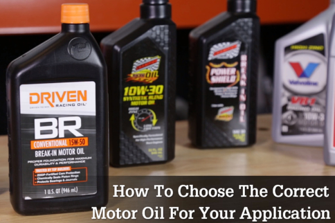 Tech Talk Video: Choosing The Correct Oil For Your Application